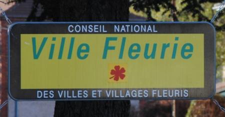 plaque ville fleurie